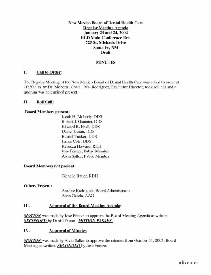 dental office meeting agenda template