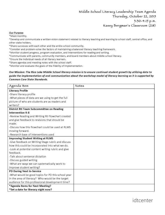 new teacher collaboration meeting agenda