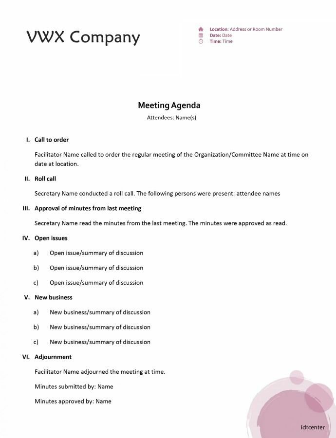 sample sales meeting agenda template