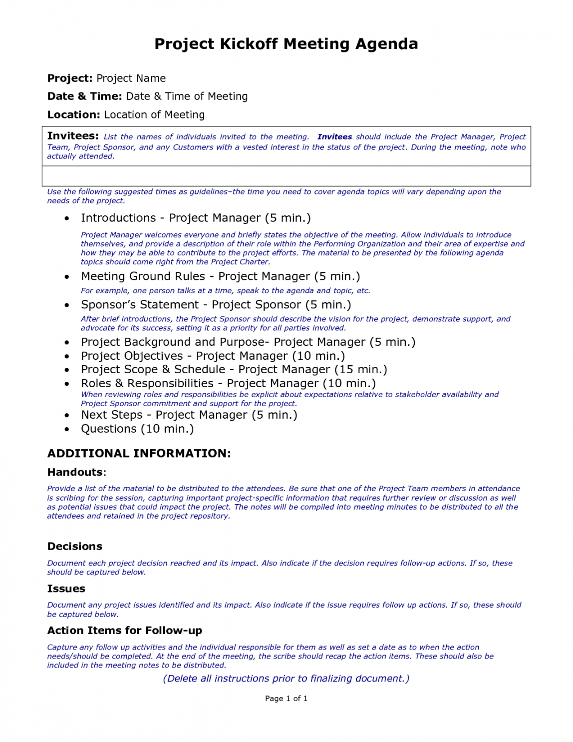 Construction Kickoff Meeting Agenda Template This Is Why Construction Kick Off Meeting Agenda Template PDF