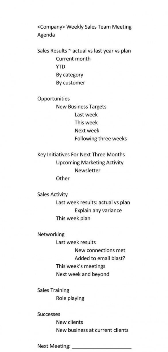 Editable 101 Guide Of Weekly Meeting Agenda With Free Templates Template For An Agenda For A Meeting