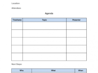Editable How To Run Effective Meetings In 10 Steps [ Free Template] Multi Day Meeting Agenda Template Word