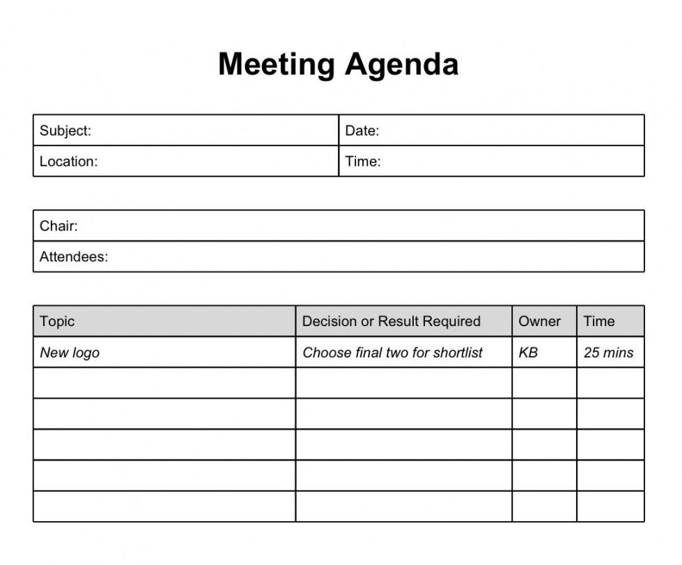 Formal Documents  Meeting Agenda Template Agenda Template Meeting Agenda Template Word Download