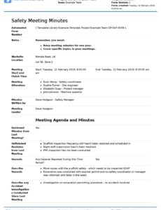 free minuets of meeting  colonarsd7 throughout committee safety committee meeting agenda template excel