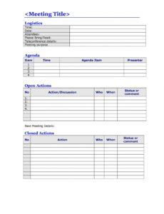 printable 46 effective meeting agenda templates ᐅ templatelab multi day meeting agenda template word
