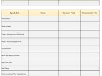 Printable Kickoff Meeting Agenda Template For Successful Projects Template For An Agenda For A Meeting Sample