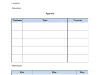 Sample How To Run Effective Meetings In 10 Steps [ Free Template] Meeting Agenda Template Word Download PDF