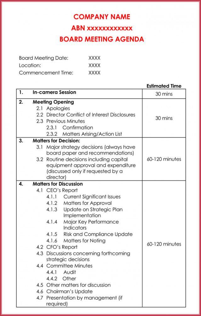 sample simple agenda template  19 best agenda's download in pdf meeting agenda template word download pdf