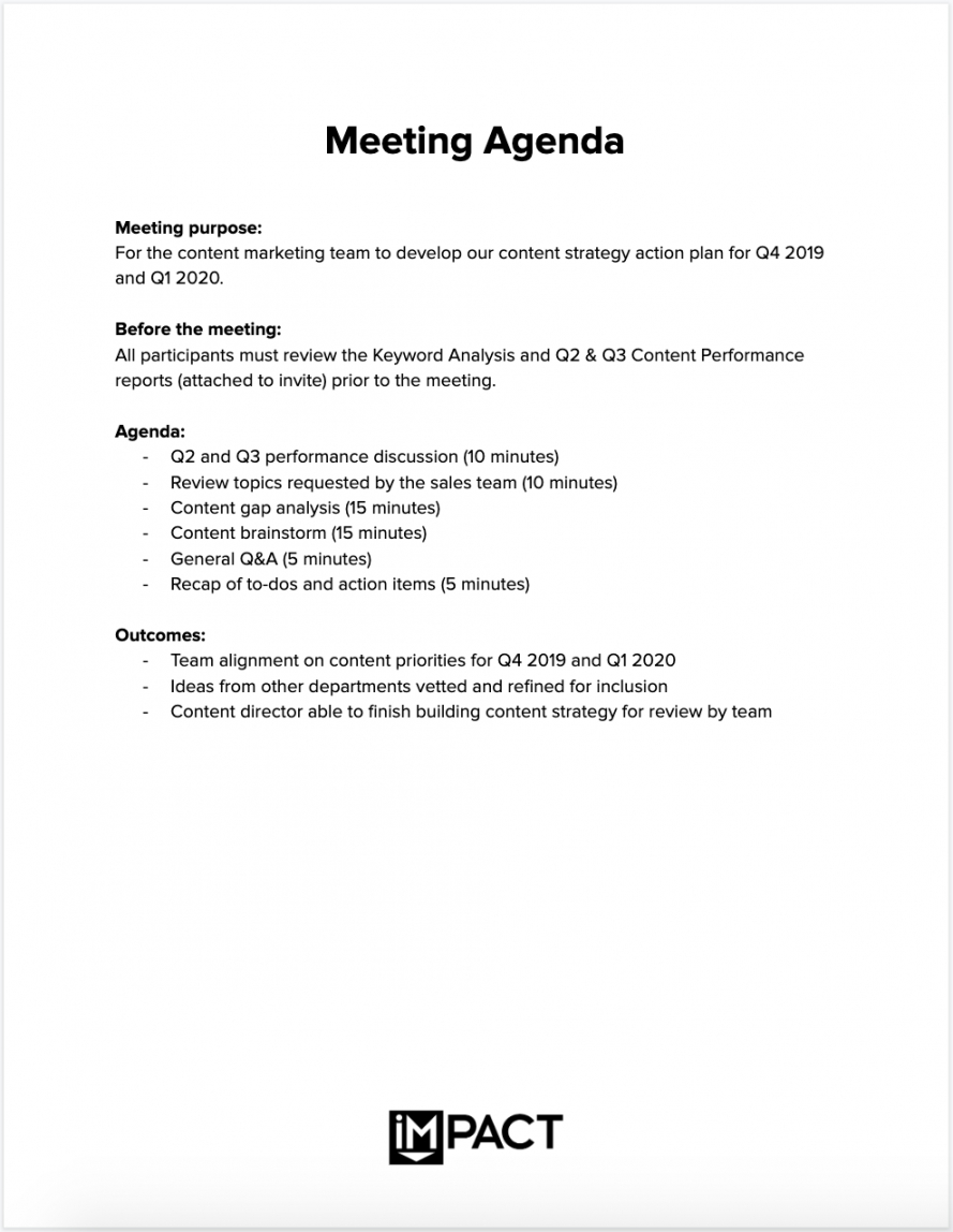 Sample The Only Meeting Agenda Template You'll Ever Need  Meeting Small Business Meeting Agenda Template Word