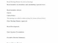 Board Agenda Template Non Profit Non Profit Meeting Agenda Template Word