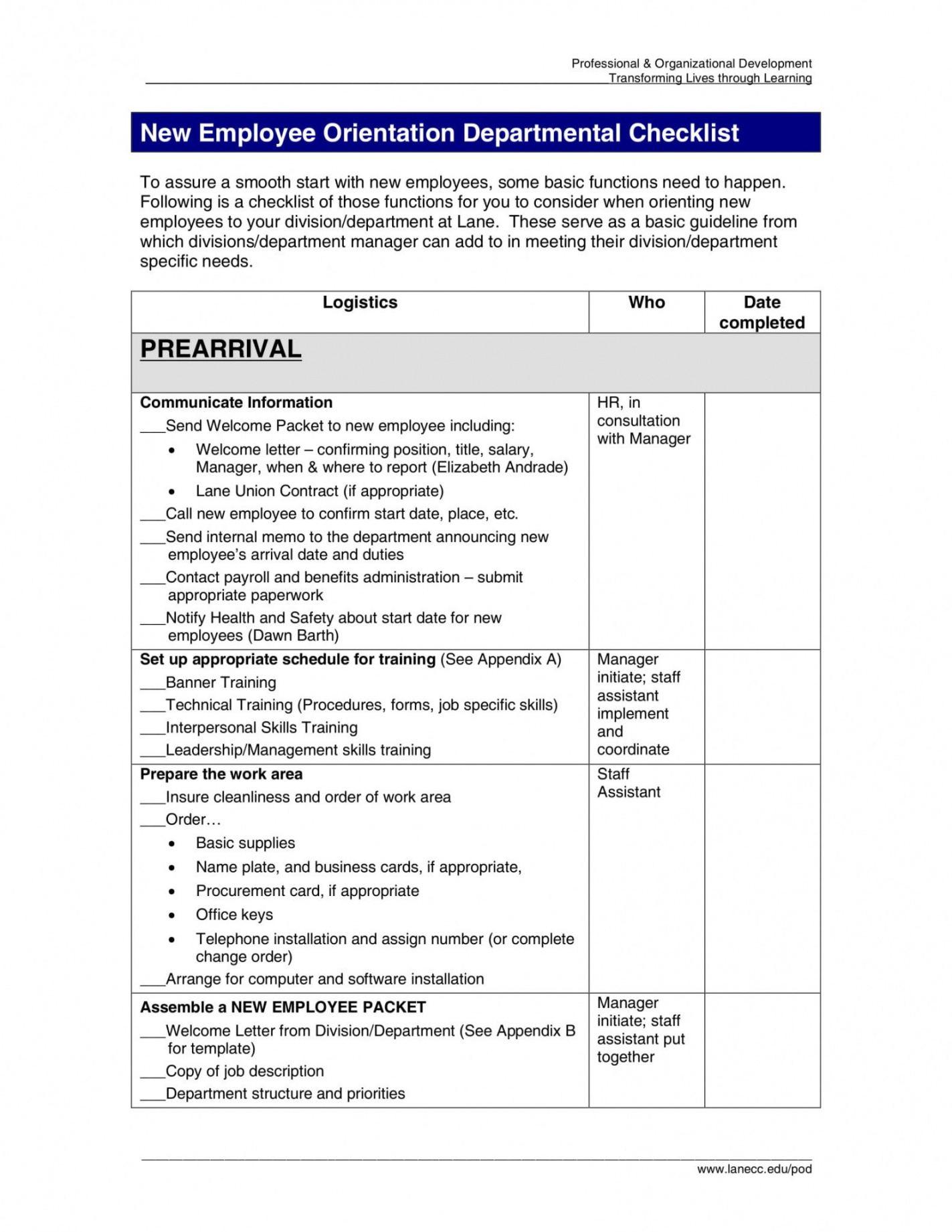 editable 14 new employee orientation program checklist pdf examples new employee orientation agenda template sample