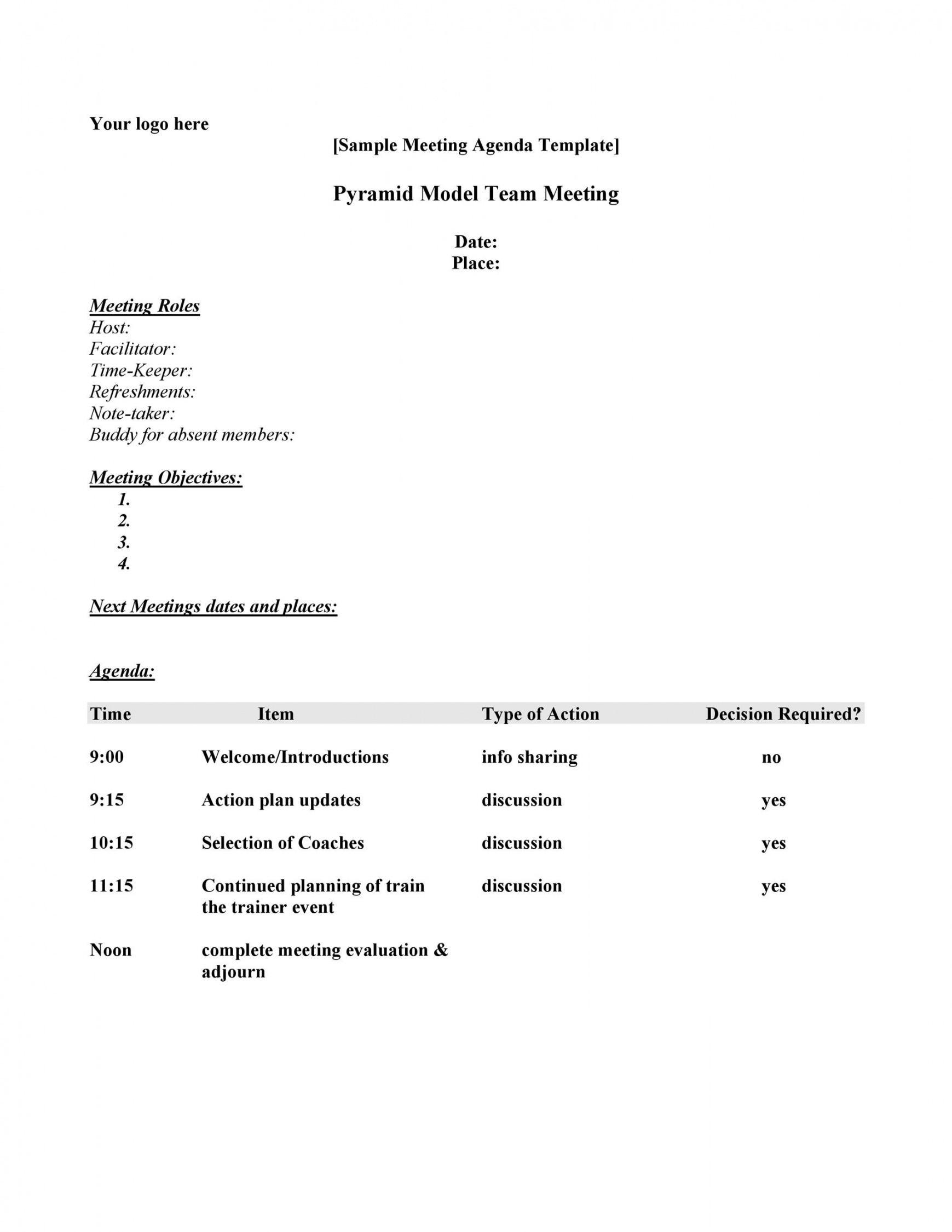 editable 46 effective meeting agenda templates ᐅ templatelab template for business meeting agenda example