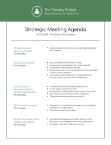 editable nonprofit environmental board meeting agenda template template for board meeting agenda excel