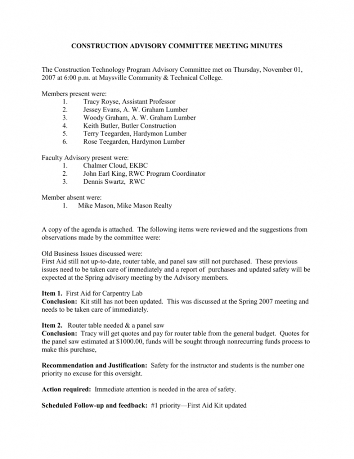 editable sample program advisory committee meeting minutes advisory board meeting agenda template