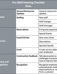 free editable how to improve restaurant efficiency lightspeed hq restaurant staff meeting agenda template example