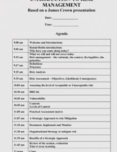 free strategic management meeting agendas 10 free templates manager meeting agenda template excel