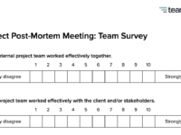 Postmortem Meeting Template And Tips  Teamgantt Post Mortem Meeting Agenda Template Example
