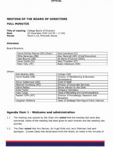 printable corporate board of directors meeting agenda template in 2020 corporate board of directors meeting agenda template sample