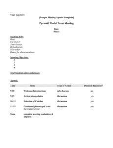 sample 46 effective meeting agenda templates ᐅ templatelab meeting agenda sample template free doc