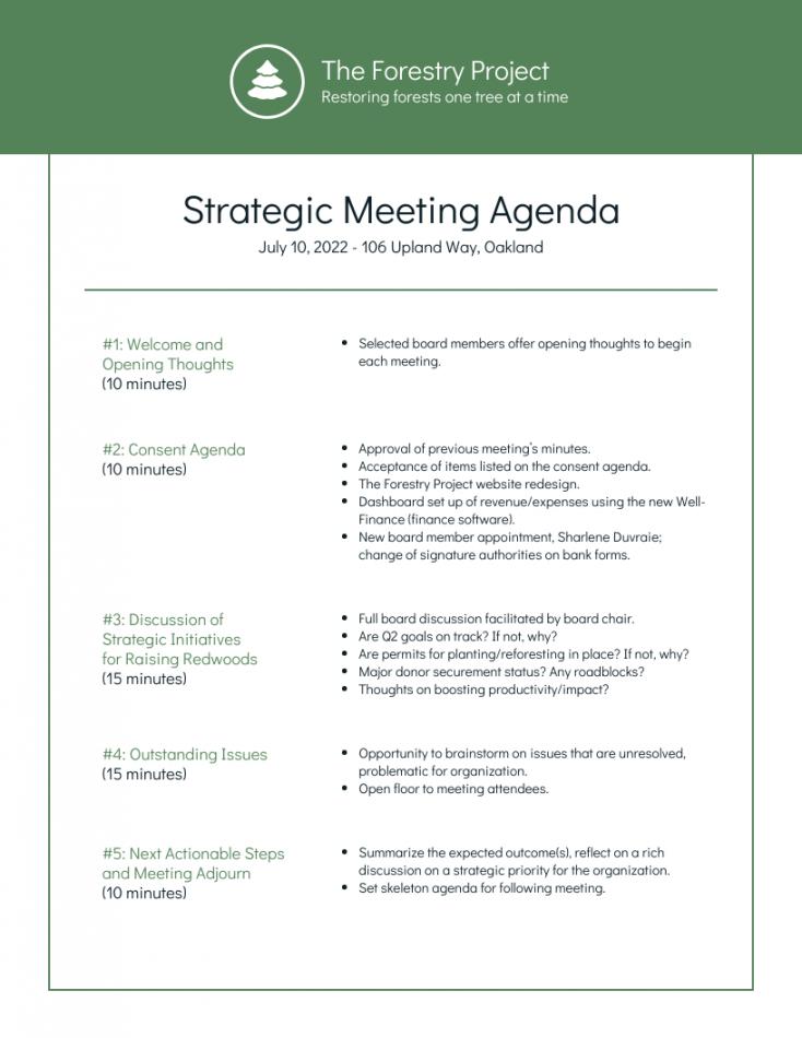 sample nonprofit environmental board meeting agenda template board meeting agenda template non profit pdf