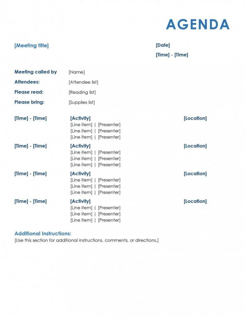 sample sample meeting agenda template ~ addictionary sample agenda template for meeting word