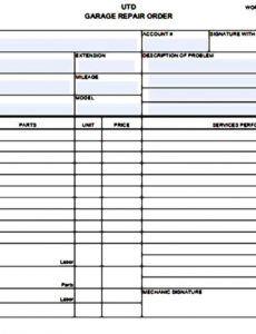 auto repair estimate templates printable in 2020  auto garage estimate template example