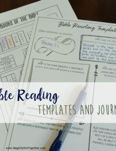bible reading templates  for adults and children  magnify bible study note taking template