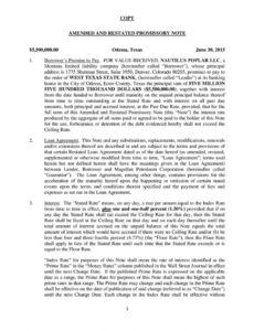 copy 1 amended and restated promissory note $550000000 amendment to promissory note template excel
