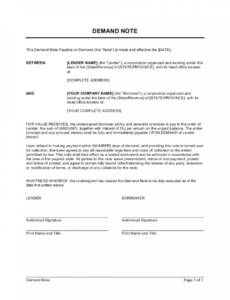 demand note template  by businessinabox™ demand note template word