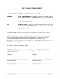 editable extension of agreement template  by businessinabox™ promissory note extension agreement template doc