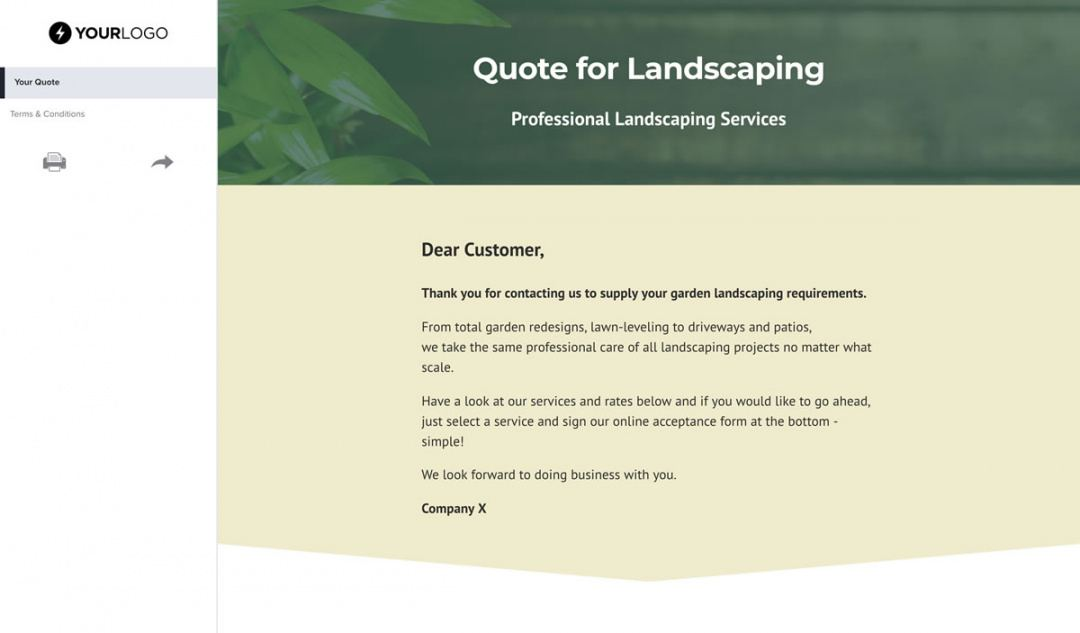 editable free landscaping quote template  better proposals landscaping estimate template pdf