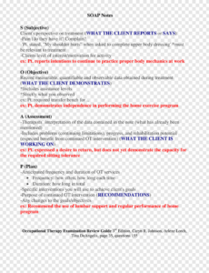 editable soap note occupational therapy examination review guide pain management soap note template