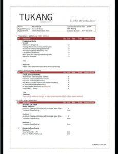 explore our sample of interior design quotation template in interior design estimate template word