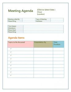 free 46 effective meeting agenda templates templatelab fun fun meeting agenda template word