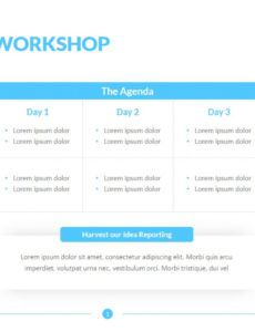 free agenda for workshop template  7000 slides  powerslides™ workshop agenda template pdf