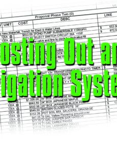 free costing out an irrigation system  irrigation and green irrigation estimate template