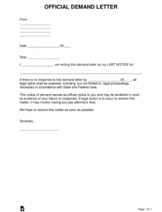 free free demand letter templates  all types with samples  word demand note template word