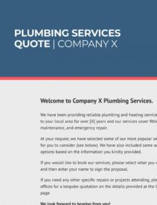 free free plumbing quote template  better proposals plumber estimate template