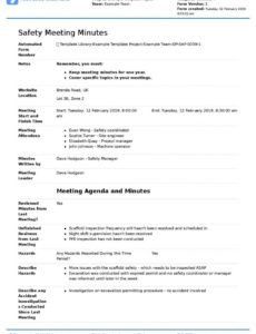 free minuets of meeting colonarsd7 throughout committee safety committee agenda template example