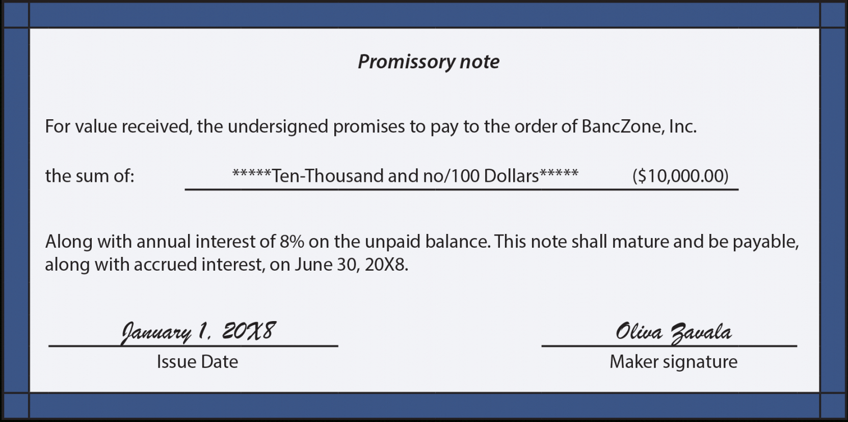 free notes payable  principlesofaccounting short term promissory note template excel