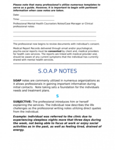 free pdf clinical note taking is very challenging for many mental health soap note template doc