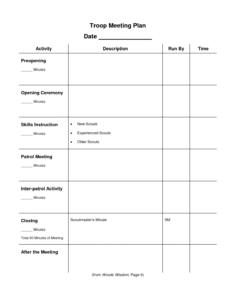 free pin on cub scouts scout committee meeting agenda template doc
