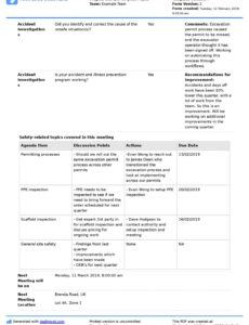 free safety committee meeting agenda and minutes template  use safety committee agenda template