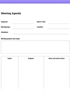 how to run effective meetings with templates  the moqups blog agenda with notes template pdf