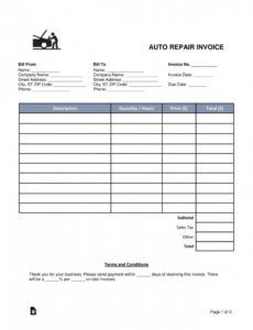printable auto repair estimate template ~ addictionary collision estimate template sample