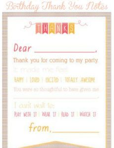 printable birthday thank you notes  birthday thank you kids thank you note template excel