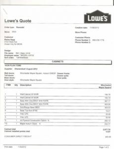 printable kitchen cabinets estimate template  invoice template kitchen cabinets estimate template sample