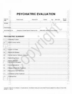 psychiatric history template psychiatric progress note template excel