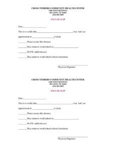 sample 36 free fillinblank doctors note templates for work  school blank doctors note template example