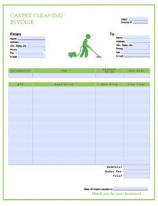 sample free carpet cleaning service invoice template  pdf  word carpet cleaning estimate template sample